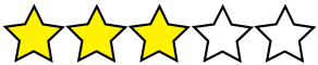 3 of 5 Stars
